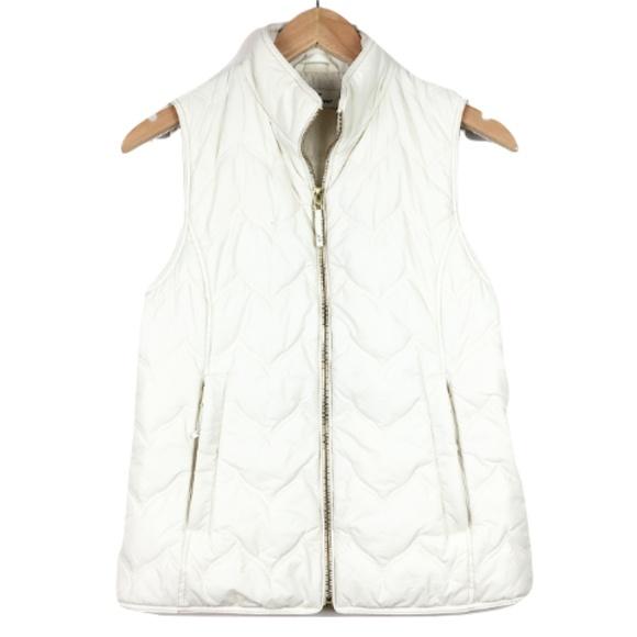 Vineyard Vines Jackets & Blazers - Vineyard Vines Cream Puffer Vest
